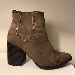 Grey studded booties